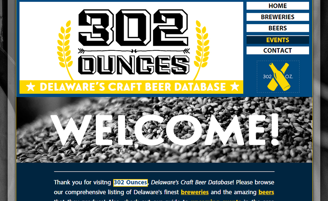 302 Ounces Website Screenshot
